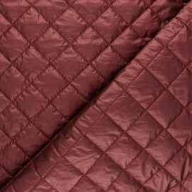 Quilted lining metallic fabric - brick Thiago x 10cm