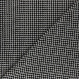Polyviscose elastane fabric - black/beige Carter x 10cm