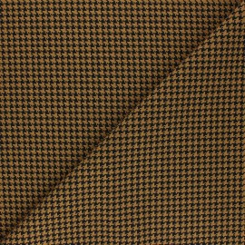Tissu polyviscose élasthanne Carter - ocre x 10cm