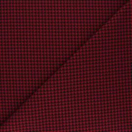 Polyviscose elastane fabric - red Carter x 10cm