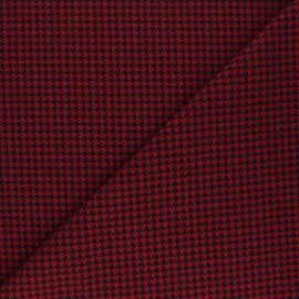 Tissu polyviscose élasthanne Carter - rouge x 10cm