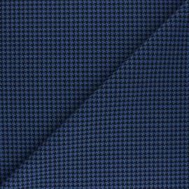 Polyviscose elastane fabric - blue Carter x 10cm