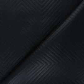 Leather Imitation fabric - black Kap x 10cm