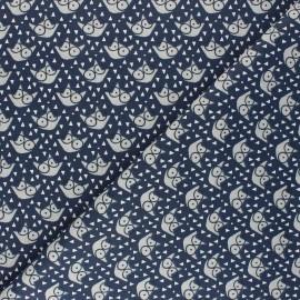 Tissu coton cretonne Fauzy - bleu marine x 10cm