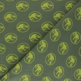 Tissu jersey Jurassic Park - vert olive x 10cm
