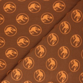 Printed Jersey fabric - orange Jurassic Park x 10cm