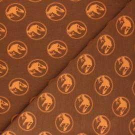 Tissu jersey Jurassic Park - orange x 10cm