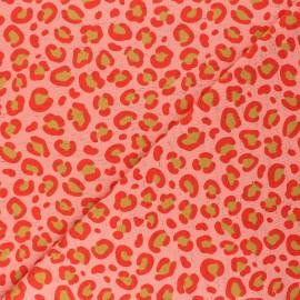 Tissu jersey Poppy Imani - corail x 10cm