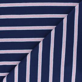Tissu jersey Aaron - bleu marine x 10 cm