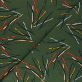 Tissu sweat léger Sylvia - vert kaki  x 10cm