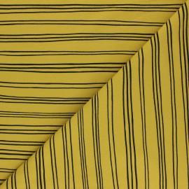 Tissu sweat Poppy Stripes A - jaune moutarde x 10cm