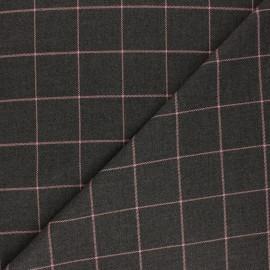 Tissu polyviscose élasthanne Glen - gris foncé x 10cm