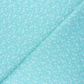 Cretonne cotton Fabric - iceberg Difatti x 10cm