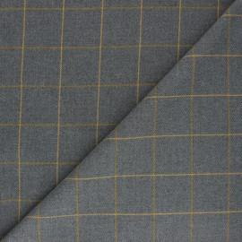 Tissu polyviscose élasthanne Glen - gris clair x 10cm