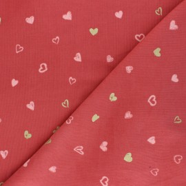 Tissu velours milleraies Poppy You're A Sweetheart - brique x 10cm