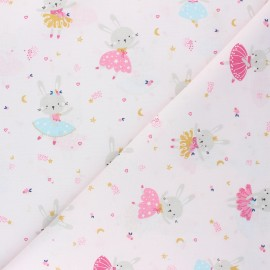 Tissu coton cretonne Lavigna - rose pâle x 10cm