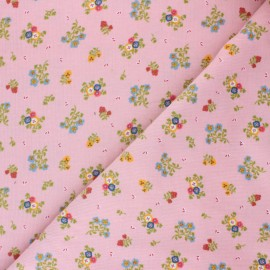 Tissu velours milleraies Poppy Sweet Little Flowers - rose x 10cm