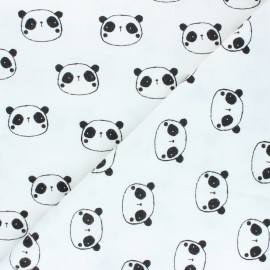 Poppy Flannel Fabric - white Hi There! x 10cm