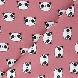 Poppy Flannel Fabric - pink Hi There! x 10cm