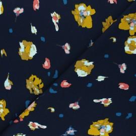 Elastane Crepe fabric - navy blue Hermeline x 10cm