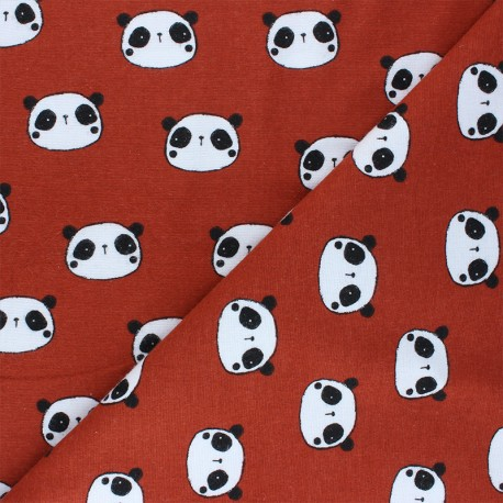 Poppy Flannel Fabric - red brick Hi There! x 10cm