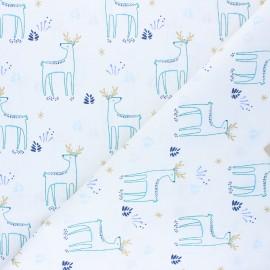 Tissu coton cretonne Kajsa - blanc x 10cm