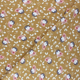 Jersey cotton fabric - ochre Kidia x 10cm
