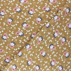 Tissu jersey Kidia - ocre x 10cm
