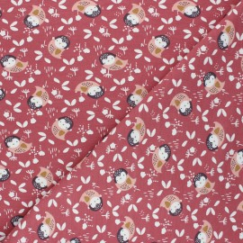 Jersey cotton fabric - antique pink Kidia x 10cm