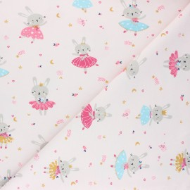 Jersey cotton fabric - light pink Lavigna x 10cm
