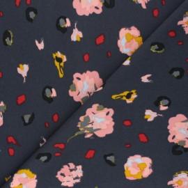 Elastane Crepe fabric - dark grey Hermeline x 10cm