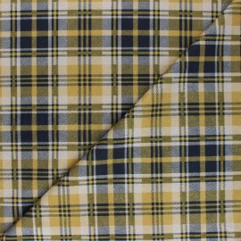Checked Suede elastane fabric - yellow Alamo x 10cm