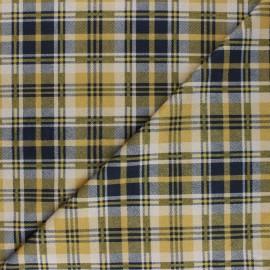 Tissu Suédine élasthanne à carreaux Alamo - jaune x 10cm