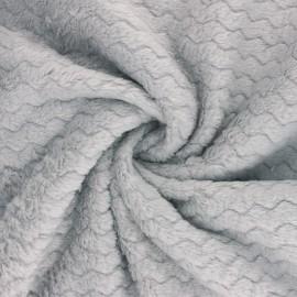 Tissu Doudou Wave - Gris x 10 cm