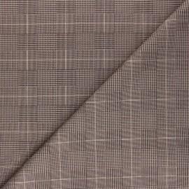 Checked Suede elastane fabric - beige Westbury x 10cm