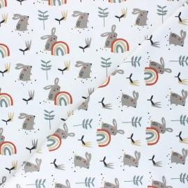 Tissu jersey Ladino - blanc x 10cm