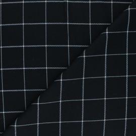 Tissu polyviscose élasthanne Glen - noir x 10cm