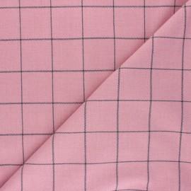 Tissu polyviscose élasthanne Glen - rose x 10cm