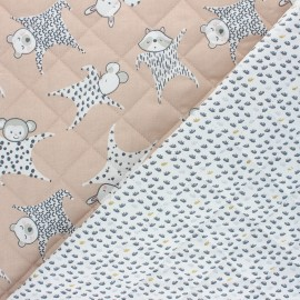 Quilted cotton fabric - nude Floppy/Dear x 10cm
