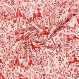 Makower UK Fabric Scandi - red Scenic x 10cm