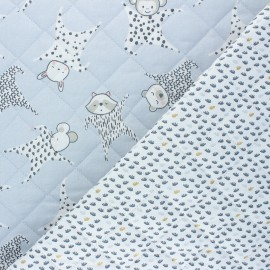 Quilted cotton fabric - grey Floppy/Dear x 10cm