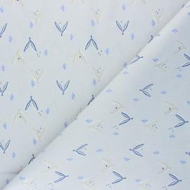 Tissu coton cretonne Jayden - gris clair x 10cm