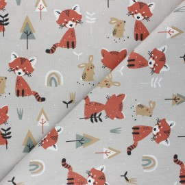 Cretonne cotton Fabric - taupe Padwan x 10cm
