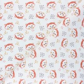 Tissu coton cretonne Tilou - écru x 10cm