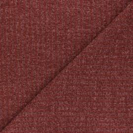 Tissu Maille côtelé Lurex Liv - terracotta x 10cm