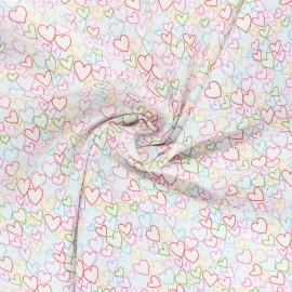 Tissu coton Makower UK Daydream Hearts - blanc cassé x 10cm