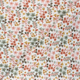 Tissu coton cretonne Milly - rose x 10cm
