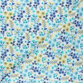 Tissu coton cretonne Milly - bleu x 10cm