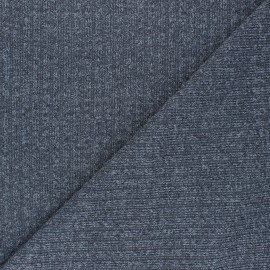 Lurex Ribbed knit fabric - grey Liv x 10cm