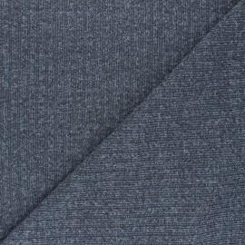 Tissu Maille côtelé Lurex Liv - gris x 10cm
